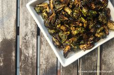 Roasted Maple Balsamic Brussels Sprouts for under 100 calories   - perfect for Thanksgiving!