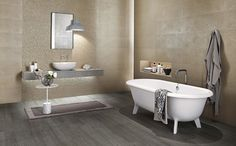FAP Ceramiche is a tile company manufacturer from Italy offering floor and wall tiles for all the requirements in architecture and interior design. Tile Suppliers, Ceramic Wall Tiles, Clawfoot Bathtub, Flooring, Pure Products, Interior Design, Bathroom, Mozaic, Metals
