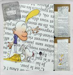 Chien... Marque page. Recyclage par la Gorgone. : Marque-pages par la-gorgone