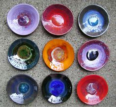 Marble Ceramic Dish bowl colorful catchall jewelry di MadgeDishes