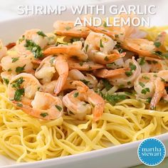 Lemon Garlic Parmesan Shrimp Pasta is made in just one pot and ready in 30 minutes! Fresh shrimp gets cooked in a buttery lemon garlic sauce and gets tossed in fresh parmesan cheese and pasta. Cooked Shrimp Recipes, Shrimp Recipes For Dinner, Fish Recipes, Seafood Recipes, Cooking Recipes, Healthy Recipes, Spaghetti With Shrimp Recipes, Delicious Recipes, Garlic Parmesan Shrimp