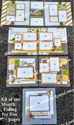 October Kit of the Month: Falling for you creates 7 stunning pages for all your fall, blessings and perhaps masculine photos. Click on the link below to see more.