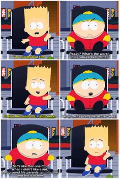 Bart's like 'Holy shit, dude' but Cartman was so calm when he said it '^_^