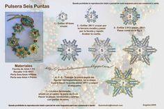 Quienlodira Creaciones: Esquema y Pulsera Seis Puntas By Quienlodira need to translate but has pics
