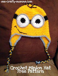 Minion crochet hat free pattern