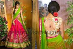 Pink Lovely Half Saree by Bhargavi