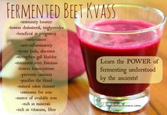 You Can't Beat Beets Beet Kvass Sally Fallon DIY homemade health remedy Nourishing Traditions natural Viagra sex hormone booster bo. How To Stay Healthy, Healthy Life, Red Juice Recipe, Beet Kvass, Smoothies, Fermentation Recipes, Calcium Rich Foods, Nourishing Traditions, Green Tea Benefits