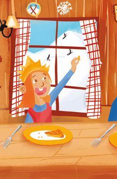 L'épiphanie © Pioupiourico - illustration Georgia Noël-Wolinski. #culturefrançaise #france #patrimoine #jeu #enfant #famille #transmission #tradition #7familles #familyfirst
