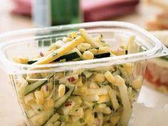 Garden Salad with Citrus Vinaigrette. Vegetarian, side dish, zucchini, corn. Substitute agave nectar to make it vegan.