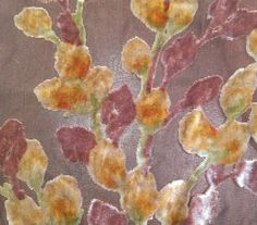 """Floral Buds - Burnout Silk Velvet (4""""x36"""")"""