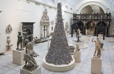 A major sculptural installation created for the V&A by artist Barnaby Barford, The Tower of Babel, tells an array of stories about our capital city, our society and economy and ourselves as consumers