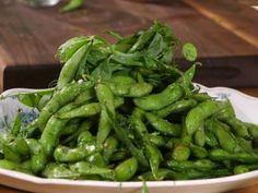 Edamame with Dill Salt and Pea Shoots, Courtesy: www.foodnetwork.com