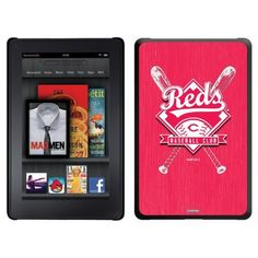 Cincinnati Reds - Bats design on a Black Thinshield Case for Amazon Kindle Fire by Coveroo. $39.95. This hard shell polycarbonate case offers a slim fit form factor, while covering the back and sides of your Kindle Fire