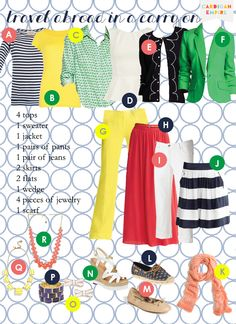 Cardigan Empire: Vacation Genius: 10 Items of Clothing, 12 Outfits, 1 Carry-On Suitcase