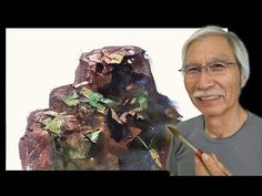 [ Eng sub ] Watercolor Tutorial | How to paint a Mountain stream 水彩画の基本〜渓谷を描くコツ 4分講座 - YouTube