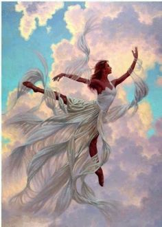 Paint by Number Kit - Angel Flying in the Heavens. Beautiful Woman in the Clouds. by OurPaintAddictions Art Prophétique, Angel Flying, Ballerina Art, Prophetic Art, Paint By Number Kits, Angel Pictures, Dance Art, Painted Ladies, Fairy Art