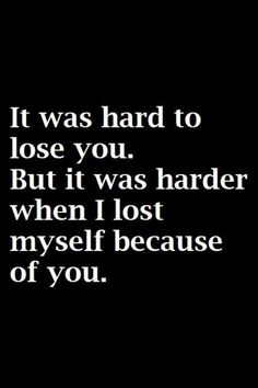 The hardest thing of all is knowing I'll never live like that again. Not because of who you are, but because I'll never trust anyone again.