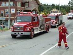 Fire trucks, Ucluelet. July 2015.