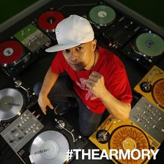 #TheArmory (3 of 14) The god[father?] of modern turntablism Qbert is one of the few DJs who can keep crowds enthralled with alien-level scratching. He's no stranger to the 1200s but is better known for funkier selections like Vestax which he popularized and later became a designer for. Today with Technics and Vestax both defunct you can catch him rocking their modern replacement the Pioneer PLX-1000. The PLX is the most reliable turntable today made by the modern king of DJ brands Pioneer…