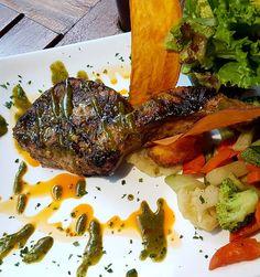 #TourTocinarte en Real San Pedro probamos la Chuleta Coronel de cerdo y marinada con puré de jalapeño cilantro y miel. #Tocinarte