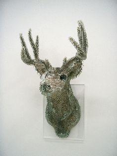Kohei Nawa.  PixCell - Deer#3  mixedmedia  h:1200 w:700 d:700 mm  2005
