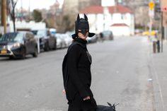 Batman costume, Brooklyn bridge
