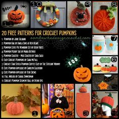 20 FREE Patterns for Crochet Pumpkins for Halloween Crochet Fall, Holiday Crochet, Crochet Round, Crochet Gifts, Free Crochet, Thanksgiving Crochet, Crochet Pumpkin Pattern, Halloween Crochet Patterns, Pumpkin Patterns