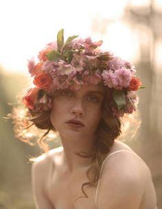 Natalie Watts for Vecu spring 2011 Fashion Gone Rogue  bridalfloralheadpiece011-opt