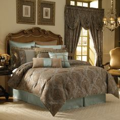 Comforter - brown and blue look.
