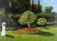 Woman in the Garden by Claude Oscar Monet - Art gallery oil. Canvas Paintings For Sale, Oil Painting For Sale, Light Painting, Oil On Canvas, Oil Paintings, Painting Still Life, Oil Painting Reproductions, Classical Art, Museum Of Modern Art