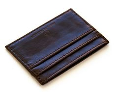 Made in Mayhem dark brown vegetable tanned leather wallet