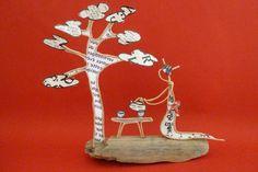 La cérémonie du thé au Japon - figurines en ficelle et papier