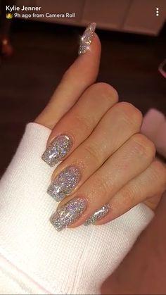 Prom nails, bling nails, my nails, nails silver glitter nails, Xmas Nails, New Year's Nails, Prom Nails, Holiday Nails, Halloween Nails, Christmas Nails, Nails 2018, Silver Glitter Nails, Bling Nails