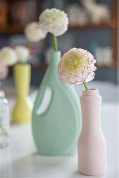 Keramiske vaser i pastell