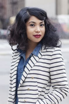 Sleek, chic curls — wearable for real girls! Photos by Amelia Alpaugh