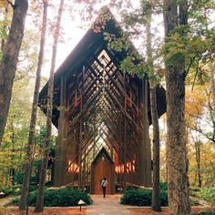 Thorncrown Chapel is a chapel located in Eureka Springs, Arkansas, designed by E. Fay Jones and constructed in 1980. The design recalls the Prairie School of architecture popularized by Frank Lloyd Wright, with whom Jones had apprenticed.