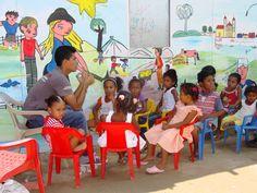 Cultura en los albergues en Estanislao, Bolívar