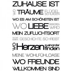 Zuhause ist da wo Leben beginnt! #Zuhause #Liebe #Banner #Wadeco // http://www.wadeco.de/banner-zuhause-ist-wandtattoo.html
