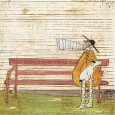 Sam Toft - This Bench May Make You Happy - limited edition art print
