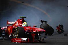 Felipe Massa crash - 2013 Monaco GP Saturday