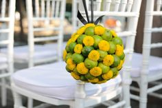 Lime Pomander Ball, Avanti Fountain Place. Fleurs de France Floral Addison/Dallas, TX.