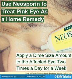 Treat Pink Eye With Neosporin