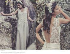 Laure de Sagazan Laura Lee, Marie, White Dress, Wedding Dresses, Hair Styles, Unique, Fashion, Bridal Gowns, White People