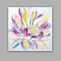 Peint à la main Abstrait A fleurs/BotaniqueClassique Moderne Un Panneau Toile Peinture à l'huile Hang-peint For Décoration d'intérieur de 2017 ? €79.37