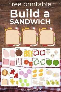 Build a Sandwich Kit - Printable Cutouts   Mrs. Merry