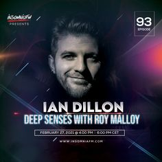 Roy Malloy & Ian Dillon - Deep Senses 093 on Insomniafm - February 2021