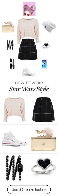 """""""T L K B A V"""" by queen-kaitlyn on Polyvore featuring Mode, Converse, Alexander McQueen, Chanel, Kevin Jewelers, Max Factor, women's clothing, women's fashion, women und female"""