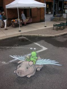 David Zinn was with Sluggo at Chelsea Sounds And Sights Festival. July 27, 2013