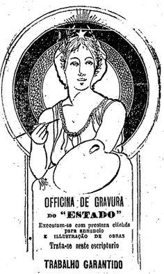 """Em 16 de agosto de 1908, o jornal oferecia sua oficina de gravura:    """"Executam-se com presteza clichés para annuncio e illustração de obras.    Trata-se neste escriptorio"""".  http://blogs.estadao.com.br/reclames-do-estadao/2010/05/04/70/"""