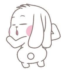 LINE Creators' Stickers - Bunny Jean Expression Full Pack Example with GIF Animation Cool Animated Gifs, Animated Emojis, Cool Animations, Cute Love Pictures, Cute Love Gif, Cute Cat Gif, Cute Cartoon Images, Cute Love Cartoons, Cartoon Memes